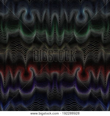 Abstract Seamless Pattern With Spectrum Hues