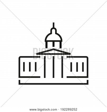 Vector illustration of The White House in the Washington DC. The residence of American president.