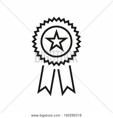 Vector illustration of universal elections symbol in the shape of medal on white background. The part of voting decorations.