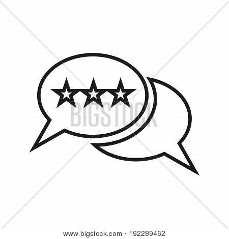Vector illustration of electoral opponents speech on white background