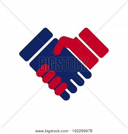 Vector Illustration of a handshake on white background