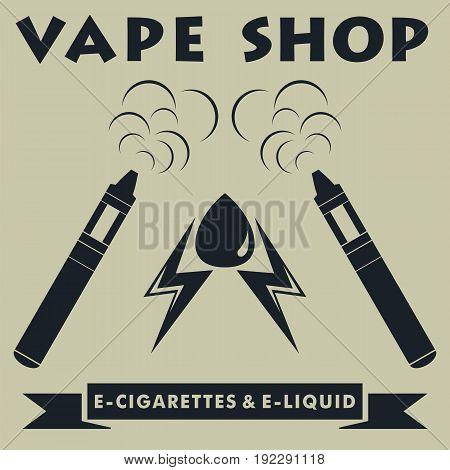 Vape shop logotype. Vape e-cigarette logo. Vector illustration.