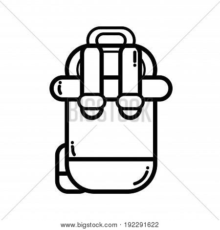 line backpack to go to exploration of vacation vector illustration