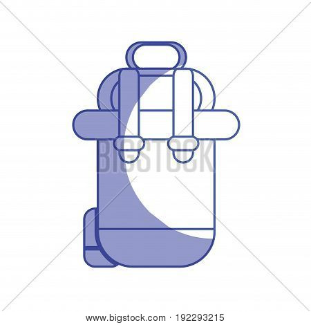 silhouette backpack to go to exploration of vacation vector illustration