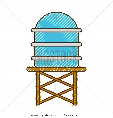 water tank tower to environment reserve vector illustration