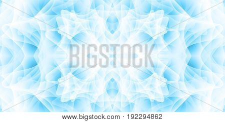 Abstract background with many overlapping shapes. Shades of blue. Mystical aura.