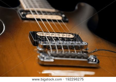 Brown Electric Guitar Detail