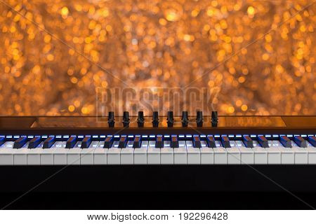 Midi Electric Piano With Blue Lights