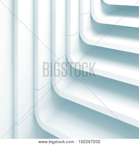 Blue Toned Abstract Square Background 3D
