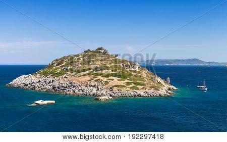 Small Island In Bay Agios Nikolaos. Zakynthos