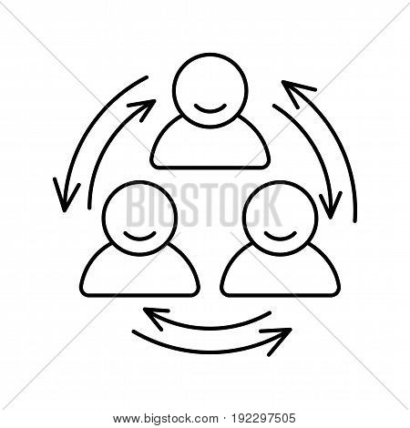 People communication vector line icon. Isolated vector lined illustration for web or app design.