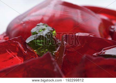 Dessert. Abstract. Closeup. Macro. Food photography. Jello