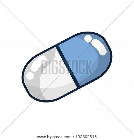 pill medicament to healthcare of people vector illustration