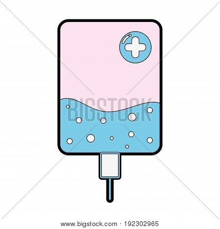 transfusion with medicament to clinc element vector illustration