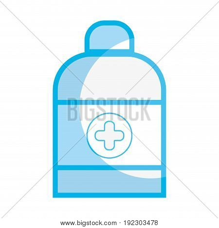 silhouette medical oinyment treatment cream to healthcare vector illustration