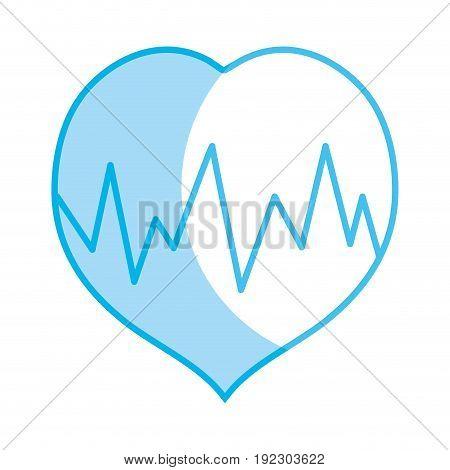 silhouette medical heartbeat to cardiac rhythm vector illustration