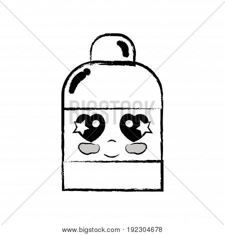 figure kawaii cute tender ointment pharmaceutical medicine vector illustration