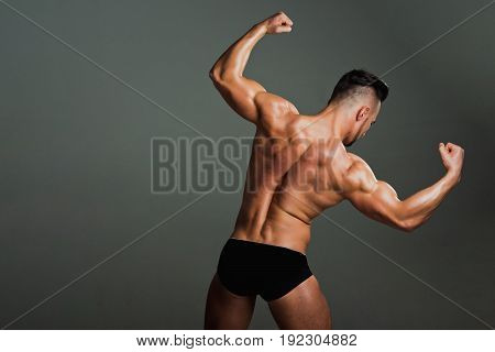 Man With Muscular Body And Back