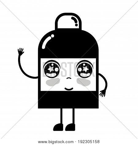 contour kawaii cute happy ointment pharmaceutical medicine vector illustration