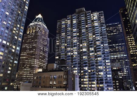 New York at night -  with lights