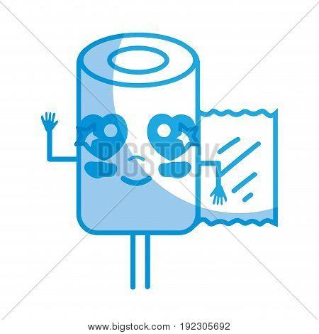 silhouette kawaii cute happy pill pharmaceutical medicine vector illustration