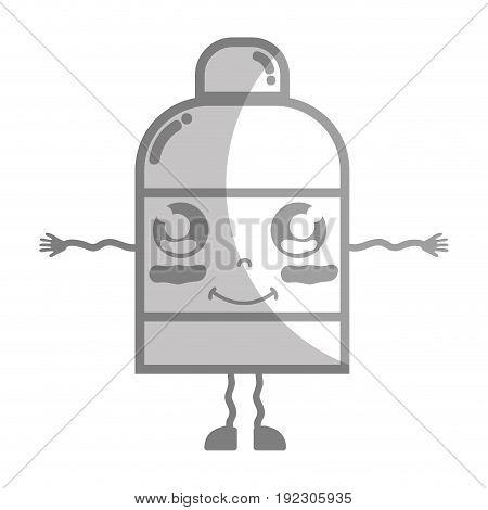 line kawaii cute happy ointment pharmaceutical medicine vector illustration