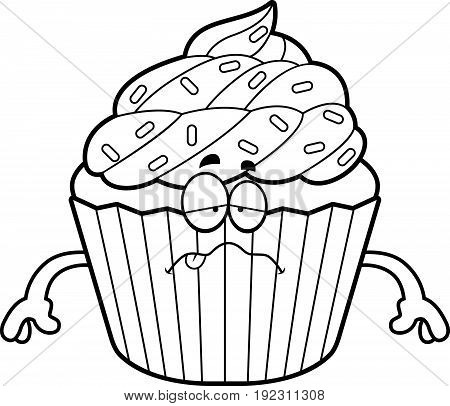 Sick Cartoon Cupcake