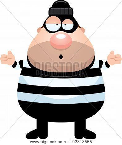 Confused Cartoon Burglar