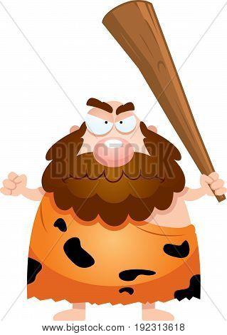 Angry Cartoon Caveman