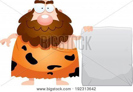 Cartoon Caveman Sign