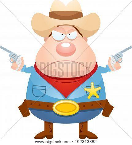 Angry Cartoon Sheriff