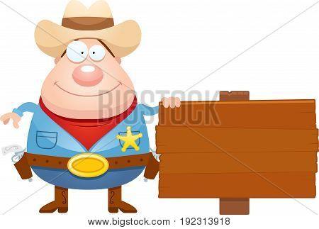 Cartoon Sheriff Sign