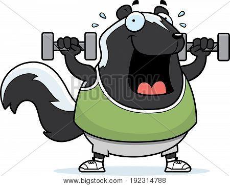 Cartoon Skunk Dumbbells