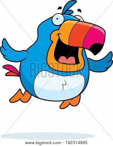 Cartoon Toucan Flying