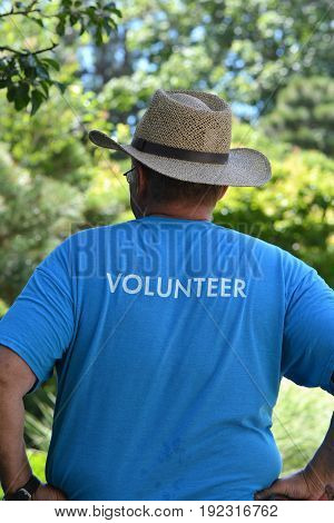 Volunteer working at one of the local parks.
