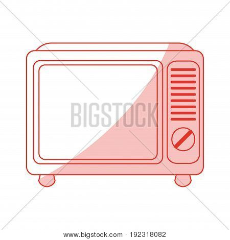 Flat line monocromatic retro tv over white background vector illustration