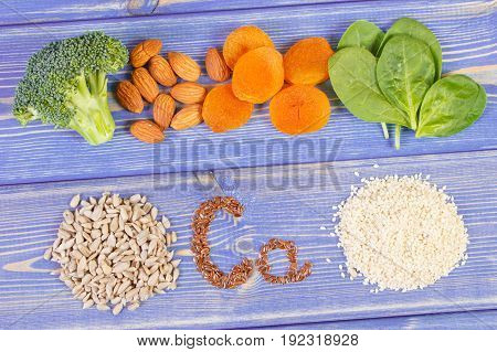 Products Or Ingredients Containing Calcium, Dietary Fiber And Minerals