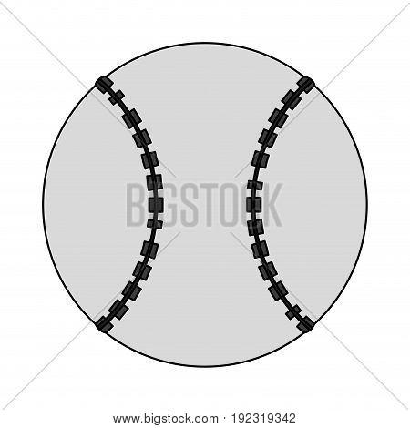 Baseball ball over white background vector illustration