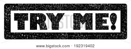 try me stamp on white background. try me sign.