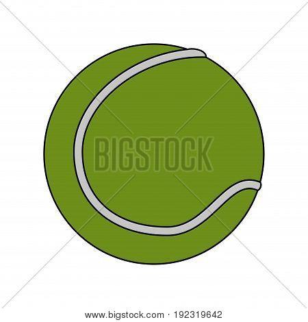 Tennis ball over white background vector illustration