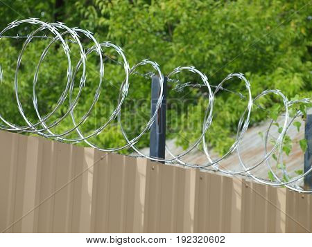 Razor wire as a security measure is the first choice of material yards,