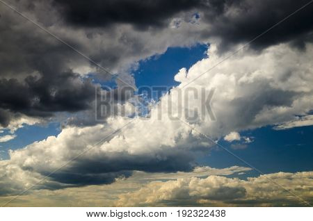 Stormy sky and clouds natural photo background