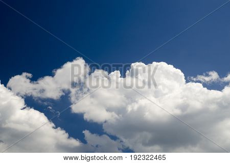 Flying in clouds high in the sky natural photo background air travel