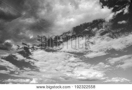 Black and white cloudy sky photo high resolution natural background