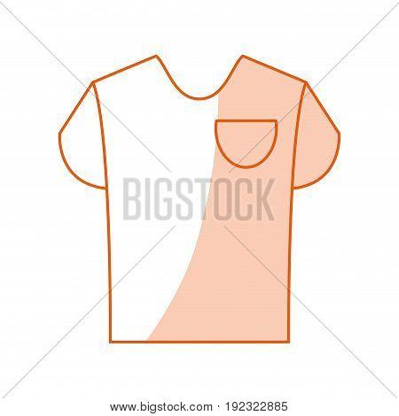 Flat line monocromatic shirt over white background vector illustration