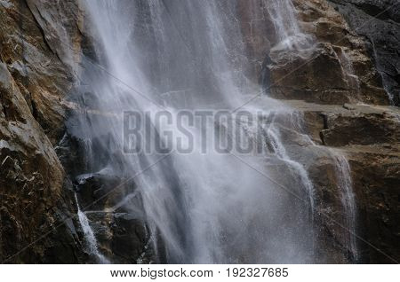 Detail of Upper Yosemite Falls: Yosemite National Park, California, USA