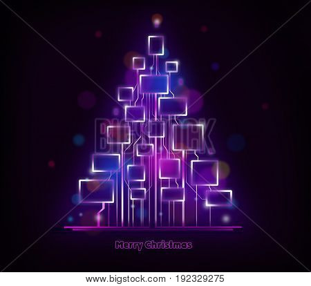 Abstract colorful background template. Cristmas electronic illustration.