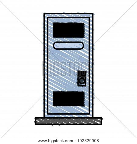 pc monitor electronic icon vector illustration design doodle