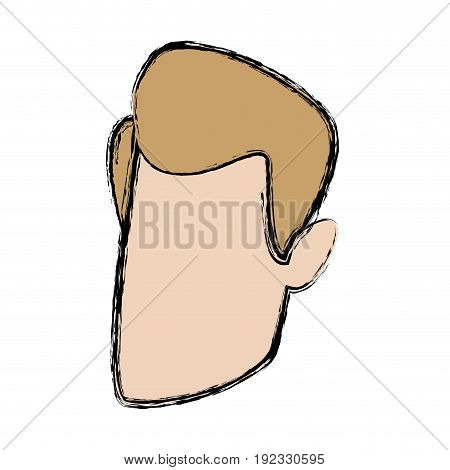 man character head default male image vector illustration