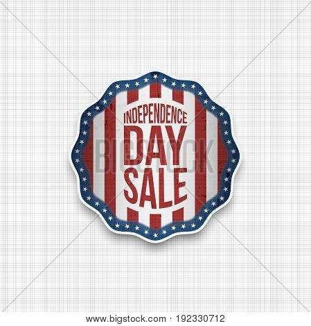 Independence Day Badge with USA Flag Stripes and Stars. Vector illustration